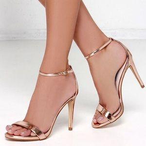 Glaze Rose Gold Metallic Dress Sandals
